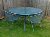 Large metal outdoor garden patio table
