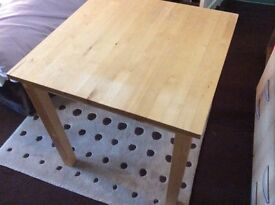 Dinning table, small, solid pine IKEA