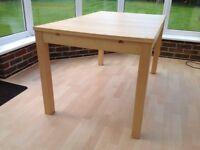 Ikea Bjurska Extendable Dining Table Oak Veneer