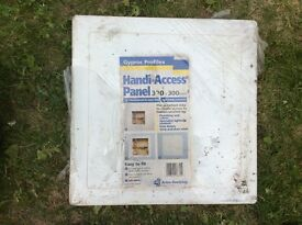 5 NEW PLASTIC HANDY ACCESS PANELS 300x300mm