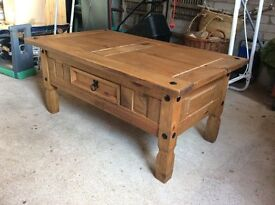 Wooden Coffee Table with drawer 102 x 60 x 45cm high