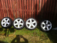 """audi a4 17"""" alloy wheels and tyres"""