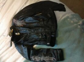 Brand new, with tags, womens Harley Davidson biker jacket size small, bought in USA, biker padding