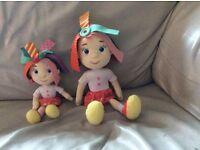 Everything's Rosie dolls X 2 plus a DVD