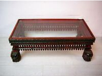 Beautiful hand carved coffee table solid wood from Afghanistan