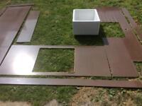 Quartz kitchen worktop - fantastic condition with splash backs. £250 or best offer.