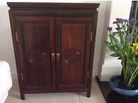 Solid Rosewood Chinese cupboard, excellent condition