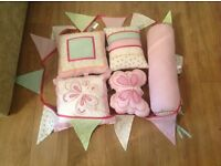 Girls Next scatter cushions and bunting set