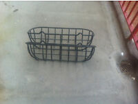 2 wrought iron wall troughs