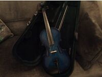 Blue Violin - 1/2 size