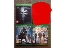 Xbox one games for sale individual or all together