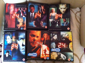 -24: Complete Seasons 1-6: Kiefer Sutherland, .about 40 disks in collection