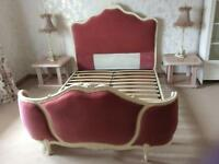 Shabby Chic Vintage French Louis XV Style Double Corbeille Bed