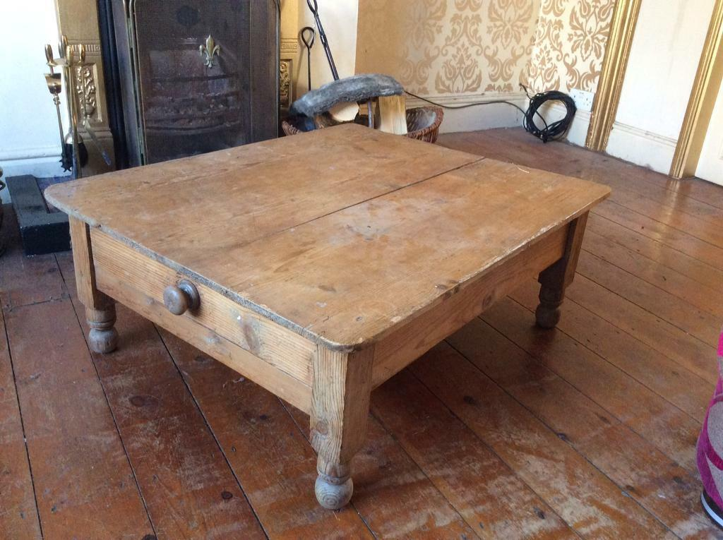Vintage Pine Low Level Coffee Table