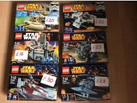 New LEGO- various Star Wars sets