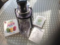 Dualit DJE1 juicer c/w Jason Vale book and DVD