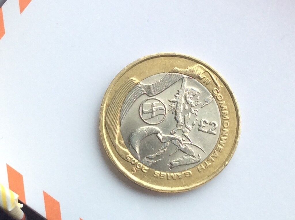 Rare, Northern Ireland Flag, Commonwealth Games 2002 , Two Pound, Coin