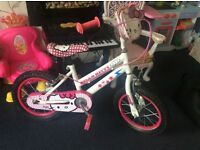 "Girls 14"" hello kitty bike. Good used condition."