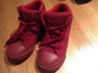 Red converse boots