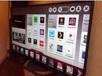 """LG 47"""" Smart 3D FULL HD 1080P LED TV, 1000Hz, built in Wifi,Freeview hd & FREESAT HD, good condition"""
