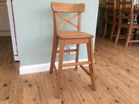 Child's wooden stool