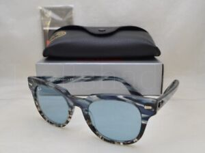 596af21f0a116 Ray Ban METEOR (RB2168-125262 50) Blue Grad Grey Stripped with Light Blue
