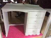 Ronseal grey chalk paint dressing table with crystal knobs