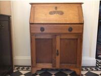 Antique Beautiful Solid Ornate Writing Bureau £50 Perfect Project