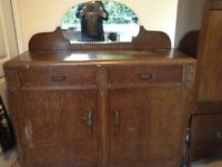 FREE sideboard ideal for restoration project needs work as seen collection only
