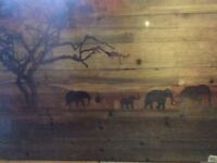 Elephants wooded picture