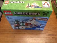 Lego Minecraft 21120 The Snow Hideout brand new