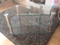 FREE glass corner tv unit