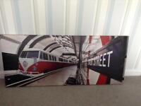 CAMPERVAN Tube Train Canvas Picture