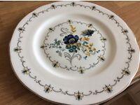Six English Bone china dinner plates. Argyle
