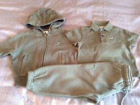 Lacoste tracksuit and polo age2 khaki.