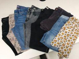 Trousers, short, jean, denim 11/12 years