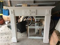 White fire surround / mantlepiece - excellent condition bargain price!