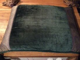 Cushion, Laura Ashley, vintage. Beautiful green 16 inches x 12 inches