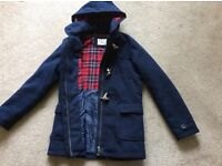 Lovely M&S navy duffle coat 13/14yrs like new