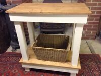Kitchen Island/Console Unit made from reclaimed timber