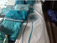 Next fitted sheet/flat sheet in jade