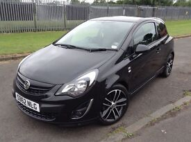 Stunning 2012 62 Vauxhall Corsa 1.4Turbo Black Edition 3Dr **1 Owner+Only 18000+Full History**