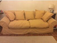 4 seater sofa with washable loose covers