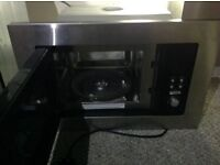 Microwave. Stainless steel. Integrated