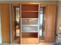 Large Musterring display cabinet with built in drinks cabinet