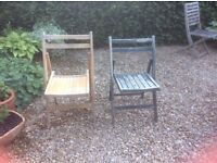 Wooden folding chairs - 4 + 2 ONLY £6!