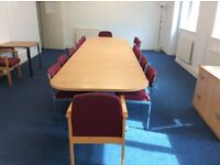 Boardroom / training room table & 14 chairs