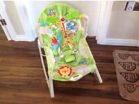 Fisher Price rainforest vibrating baby to toddler rocker/bouncer