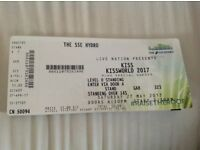 Kiss standing ticket Glasgow hydro 27/05/17
