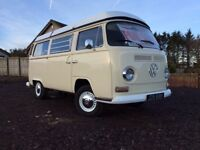 VW t2 early bay crossover camper with pop up roof